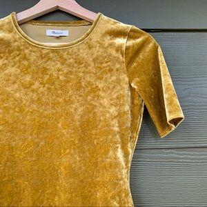|MADEWELL| Crushed Velvet Bodysuit